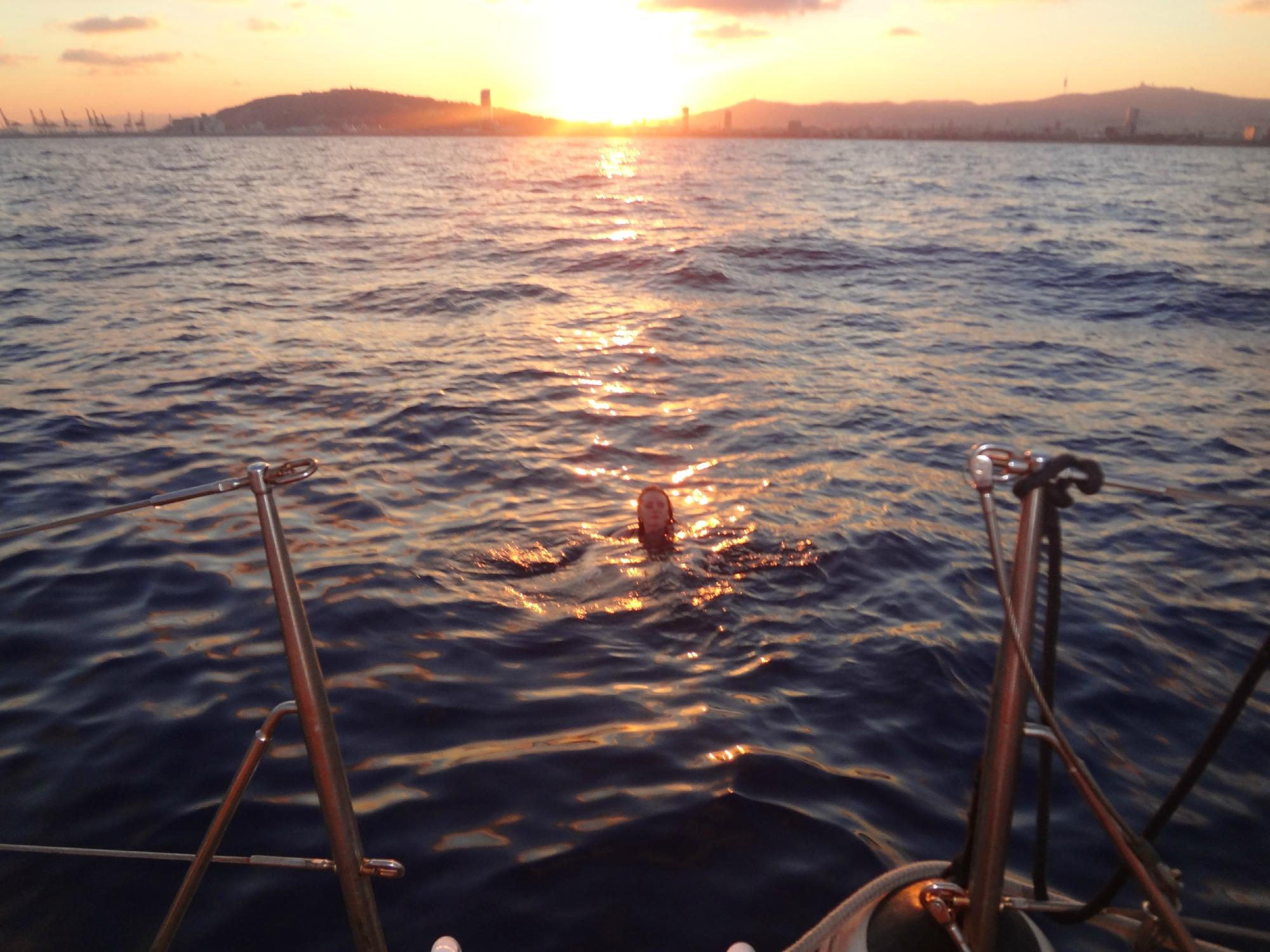 Sunset swim in the Med