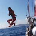Jumping into the Mediterranean!